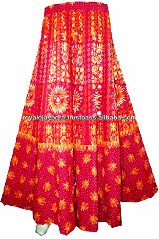 Wholesale Lot Skirts Gypsy Ethnic Tribal Wrap On Long Colorful ...