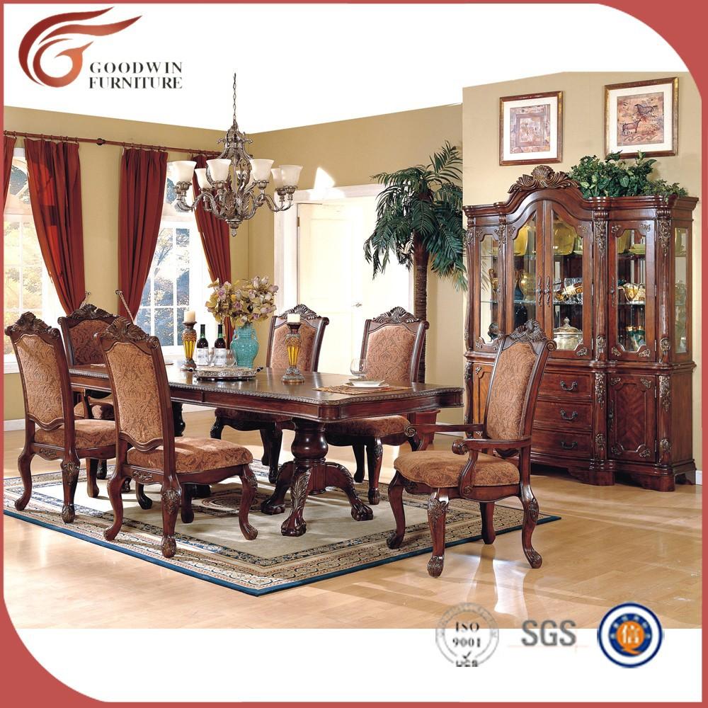 Barato mesas de comedor y sillas para venta tradicional tallada ...