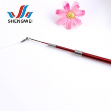 Supply high quality training cute feather cat stick fishing pole toy