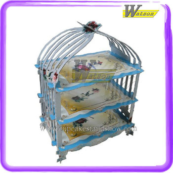 Original Birdcage Cardboard Cupcake Stand For Birthday