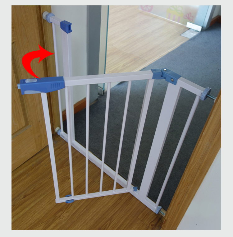 Easy Lock Handle Baby Gate Safety Baby Fence Metal Baby