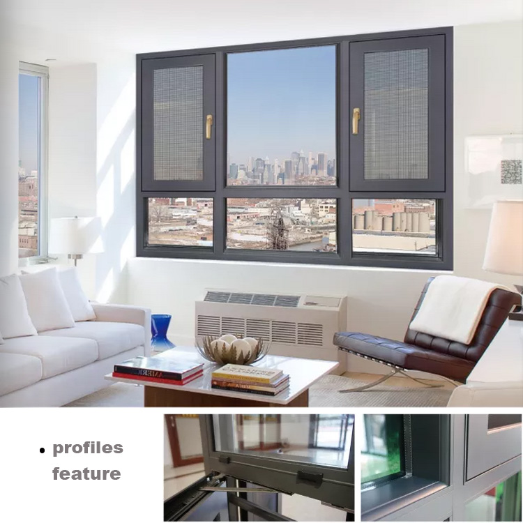 Aluminum Tempered Glass Casement Windows With Mosquito Net In Philippine Minimal Window Architectural Window