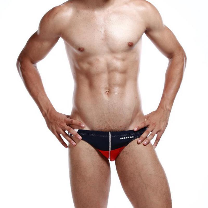 298a7ae71ce Fashion Summer Mens Swim Briefs Sexy Low Waist Mens Swim Trunks Nylon  Spandex High Quality Mens