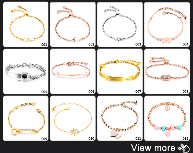 Wholesale Jewelry Women Crystal Stainless Steel Rose Gold Chain foot bracelet