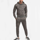 Wholesale Fitted Sweatsuit 2 Piece Custom Mens Sport Hoody Jogging Suit Pullover Zipper Thickened Cotton Plain Hoodie Tracksuit