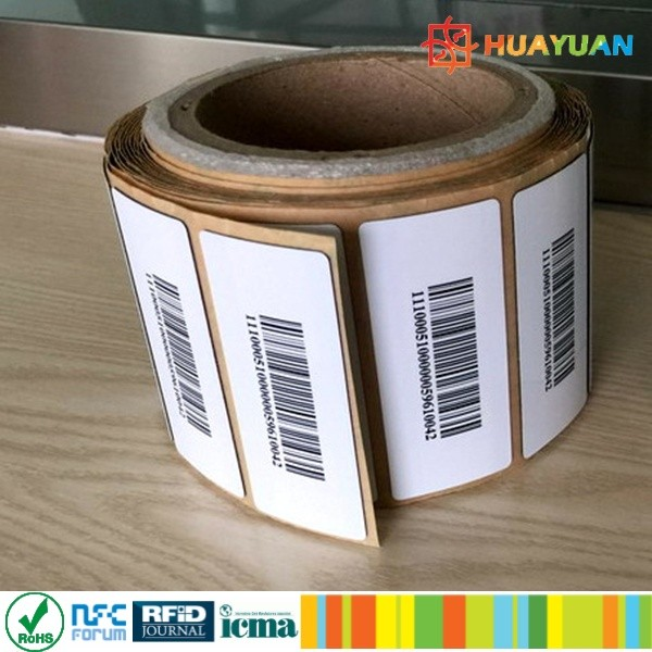 Printable paper EPC C1 GEN2 MONZA R6 anti metal uhf label