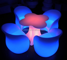 Rechargeable color change led light up outdoor chair led colour changing lights bar furniture