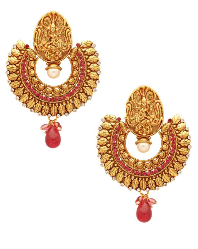 Scrunchh Antique Finish Ram Leela Temple Earrings - Buy Temple Jewellery  Earrings Product on Alibaba com