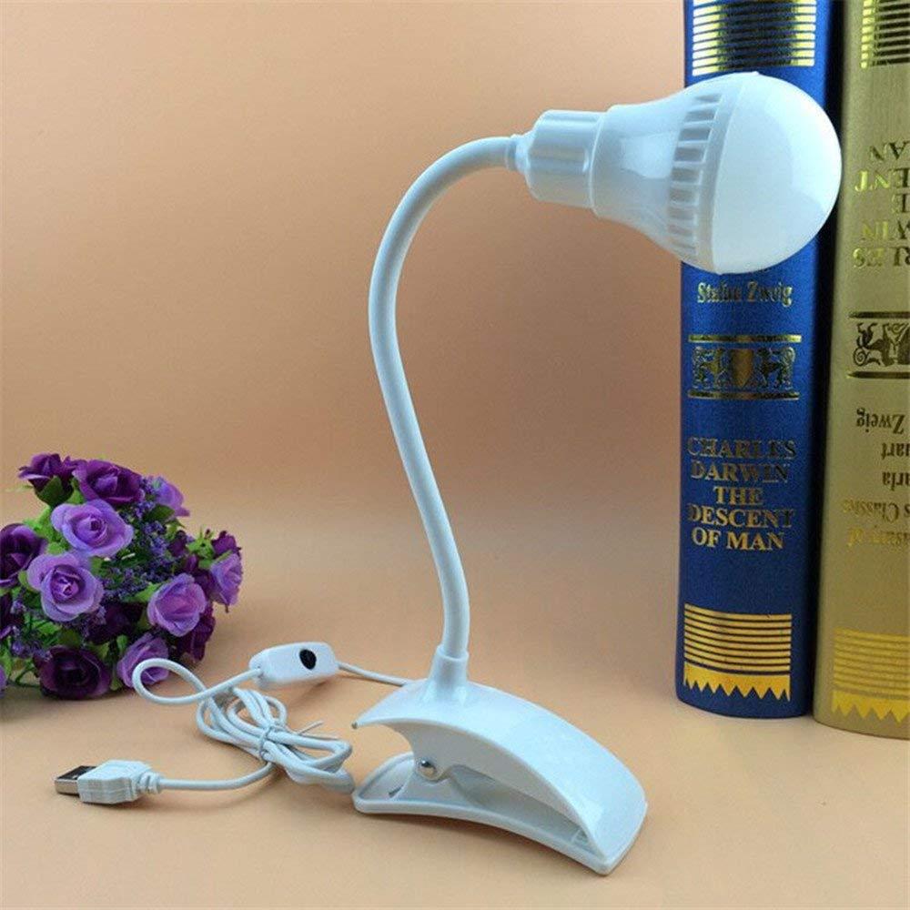 Creative Led Desk Lamp Flexible USB Clipper Clip Eye Protection Reading Light Bedside Table Lamp Bedroom Home Living Room Decor.