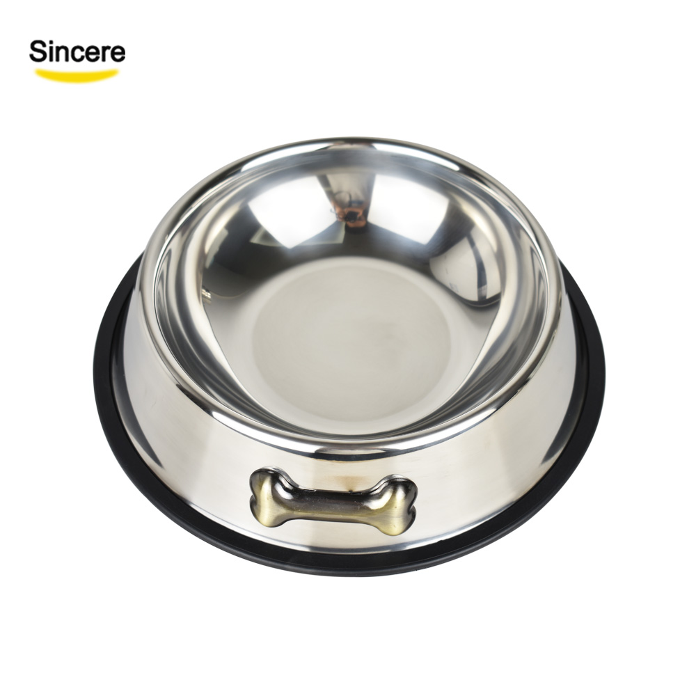 Free Sample Factory Wholesale Custom Logo Stainless Steel <strong>Dog</strong> <strong>Bowl</strong> Cat Pet Food <strong>Bowl</strong>