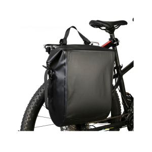 Heavy duty PVC tarpaulin RF welded seams TPU nylon bike rack grocery carrier waterproof dry saddle bag bicycle pannier bags