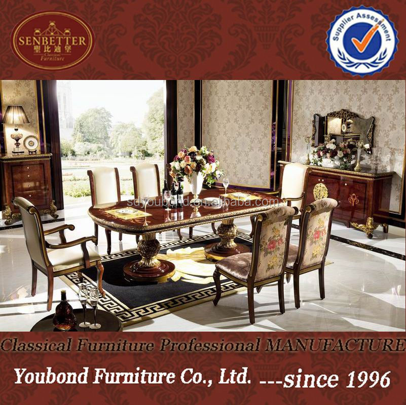 0063 Solid Wood Antique Dining Room SetItalian Style Furniture