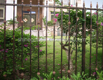 Wrought Iron Garden Yard Fencing Edging Border