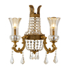pormotional status empire french double glass crystal design wall light lighting Copper Special Wall Lamp sconces luxury