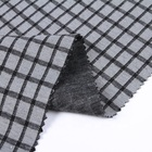 Grey dyed double layer100% polyester jacquard curtain fabric textile