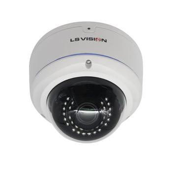 LS VISION H.265 SONY IMX335 2.8-12mm Motorized Zoom Lens POE Infrared Vandal-proof 5MP IP Dome Camera