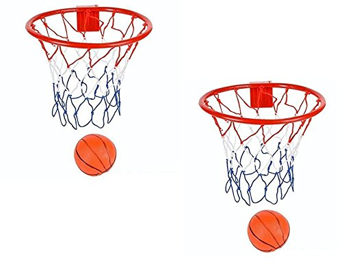 Mini Basketball Hoop - 2 Pack 8-Inch Basketball Hoop With Mini Ball Set Over-The-Door Use Fun Sports Game - Great For Kids, Teens And Adults – By Ecstatic Novelty