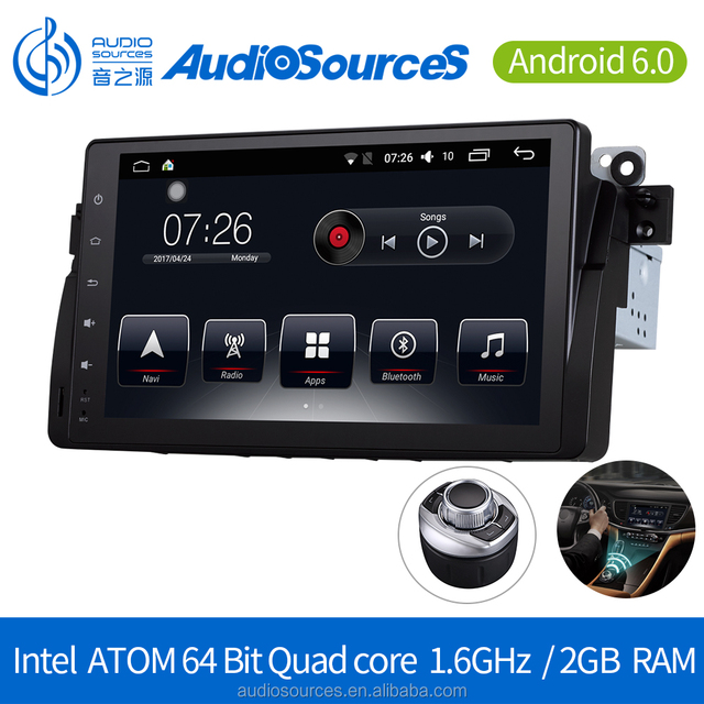 Android 6.0.1 Car DVD Player for B M W E46 GPS Navigation System with Carplay Bluetooth Dual-zone Navi