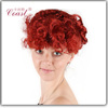 professional cheap pink colour sexy women party wig