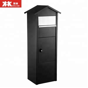 Free Standing Large Letter Boxes Steel Mailbox for Outdoor