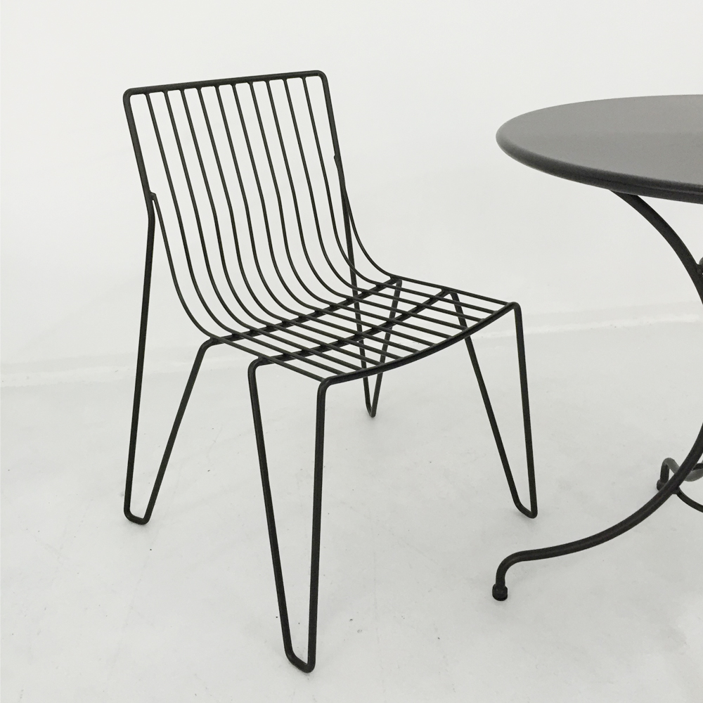 Pleasing Outdoor Solid Metal Wire Frame Patio Chair Black Outdoor Patio Furniture Dining Chair Buy Wire Chair Manufacturers High Quality Dining Chair Wire Inzonedesignstudio Interior Chair Design Inzonedesignstudiocom