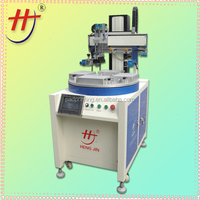 rotary silk screen printing machine,screen printer for sale,semi auto screen printing machine with PLC and touch screen