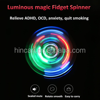 High Speed Led Laser Relieves Anxiety EDC Fidget Spinner