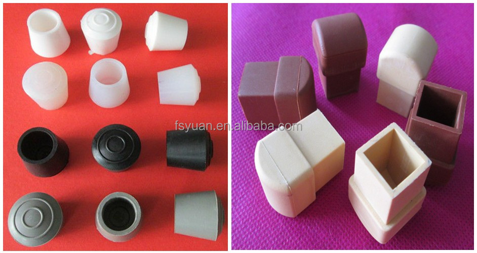 Square Chair Leg Floor Protectors Rectangle Plastic Chair Leg