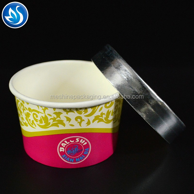 Compostable pla coated paper ice cream cup