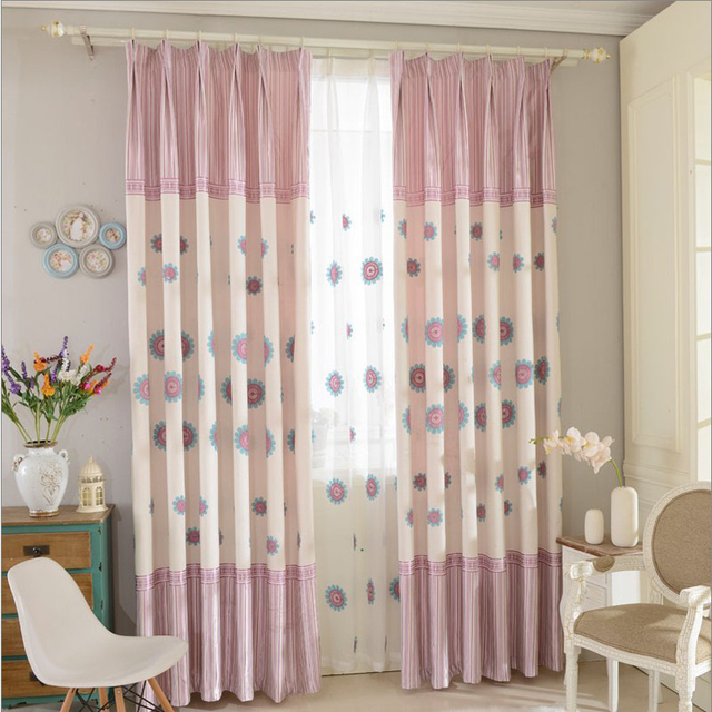 2016 flower pattern modern shade blinds window blackout - Childrens bedroom blackout curtains ...