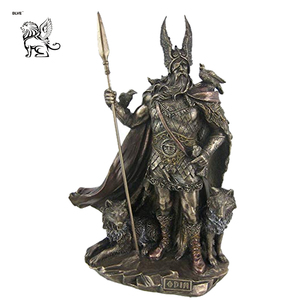 Outdoor God Odin Statue Bronze polished Sculpture Figurine Superb Detailed Collectible Decoration for sale BSG-118
