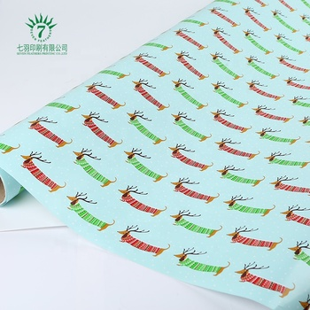 Custom Printing Recyclable Wrapping Kraft Paper, Gift Wrapping Paper,wholesale gift wrap paper