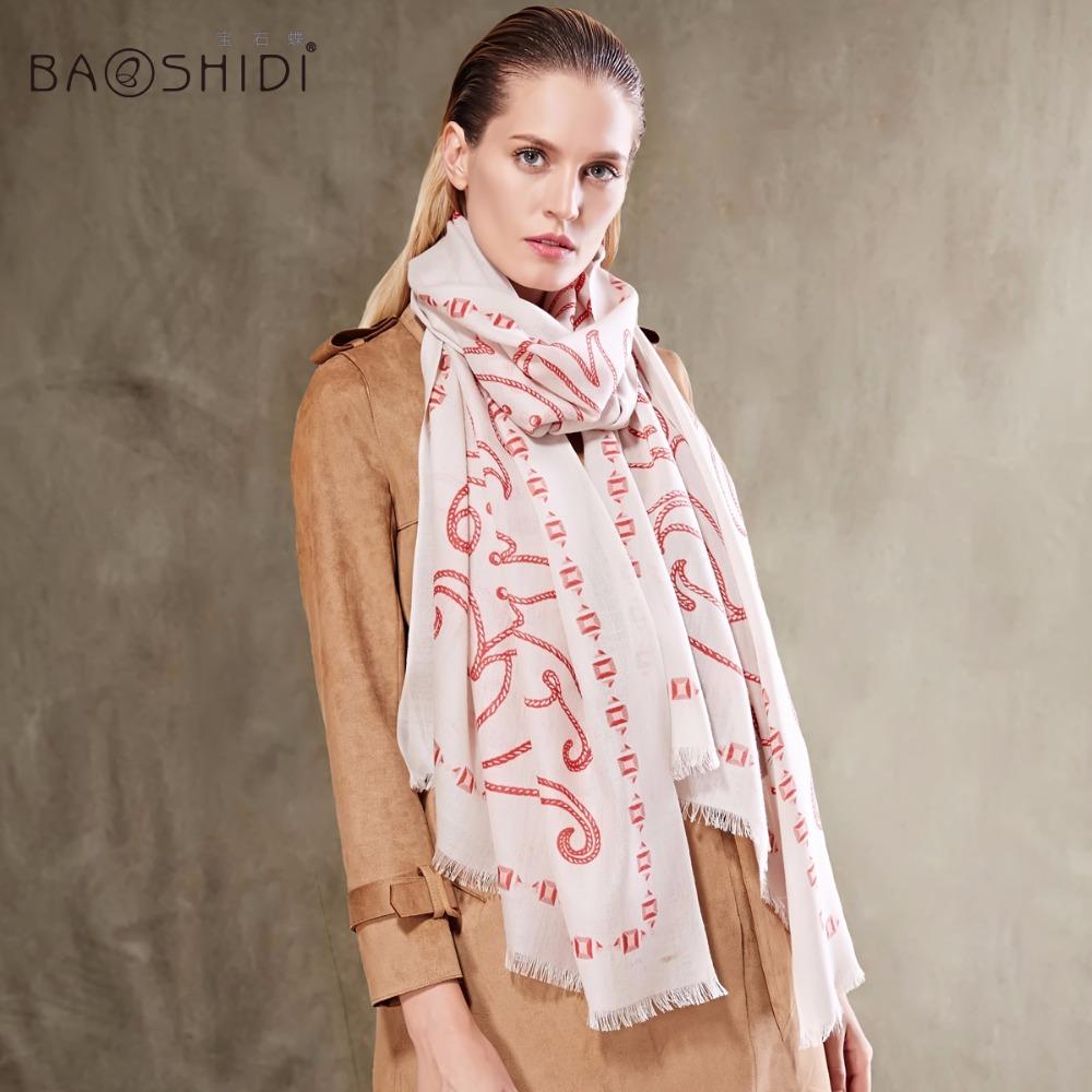 工場価格100%ウール100 sスカーフ女性の冬のスカーフレディー