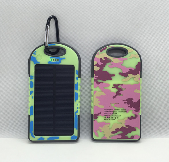 Luminous waterproof polymer solar mobile power bank recharger