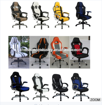 ZHENHONG Racing Executive Office Fabric Race Car Seat Chair Adjustable  Gaming Bucket Chair