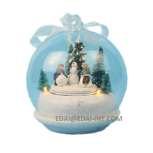 Led music scene rotating house 150mm large christmas ball ornaments
