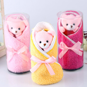 Girl friend lovely pink bear cake towel gift wedding gift Bear Design Wedding cute Cake Towel Gift Towel