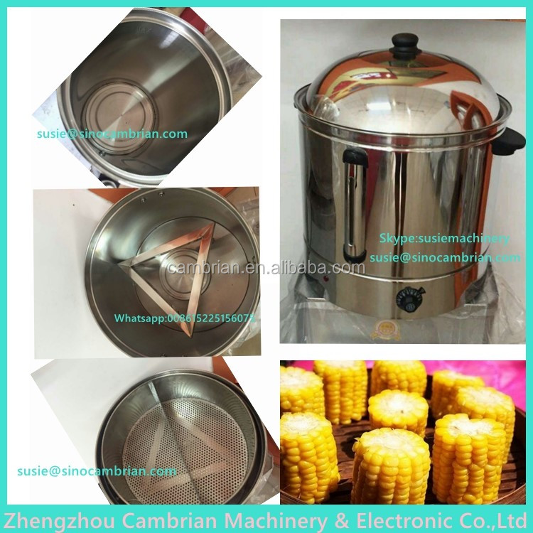 Satefy auto-off digital control 48L electric corn boiling machine with 2 partion