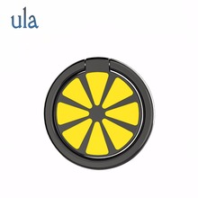 Phone Ring Holder Lemon Shape Ring 360 degrees rotating Mobile Phone Ring Magnetic Phone Holder