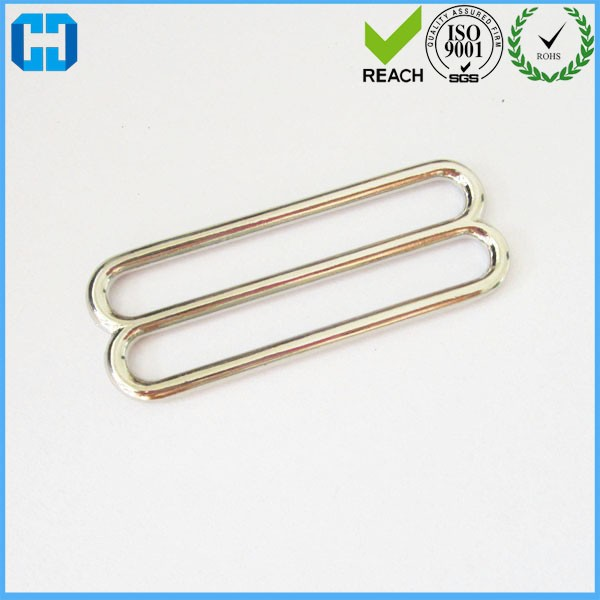 Nickle Tri-glide Buckle Metal Slider Tri Glide Button For Bag Luggage