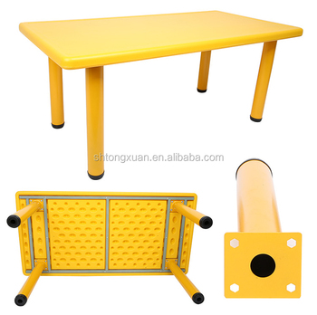 Kids Plastic Table With Removable Legs Plastic Rectangle Table