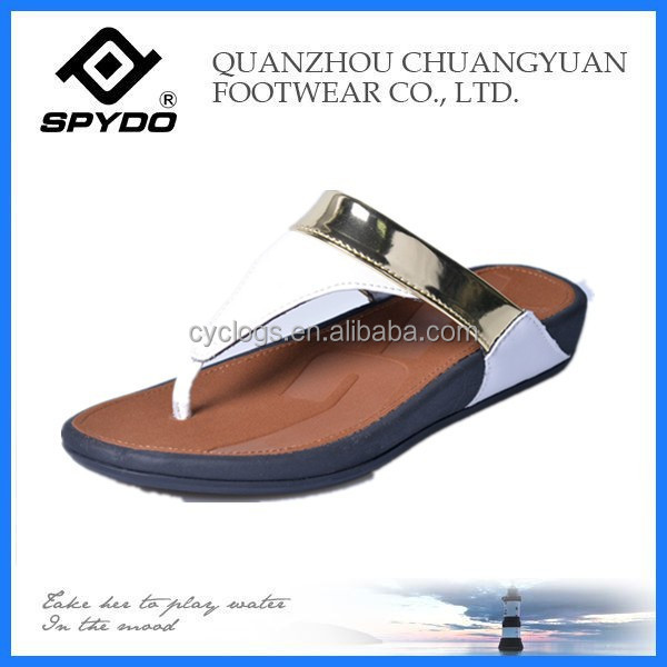 2015 trendy lady woven flip flop best selling leisure