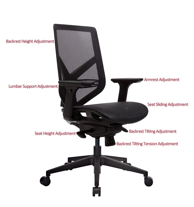 Tender Form TF-15NB Computer Task Chair Ergonomic Mesh Office Chair