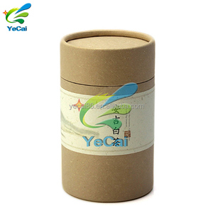 Eco-friendly food packaging box custom apparel packaging paper tube , round paper tea box with your logo