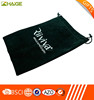 Logo print microfiber fabric mobile phone pouch