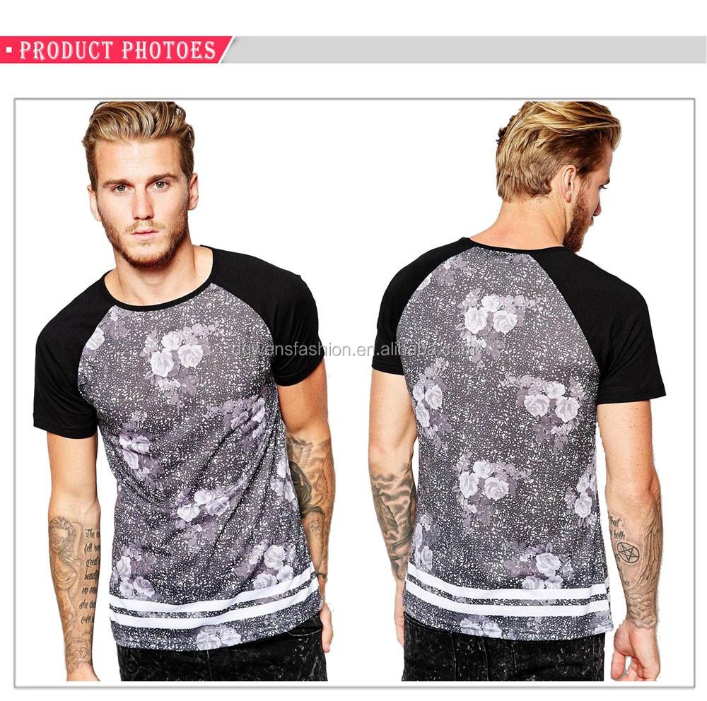 Design your own t shirt mens - 2016 Mens Vintage Floral Printed T Shirt Design Your Own T Shirt