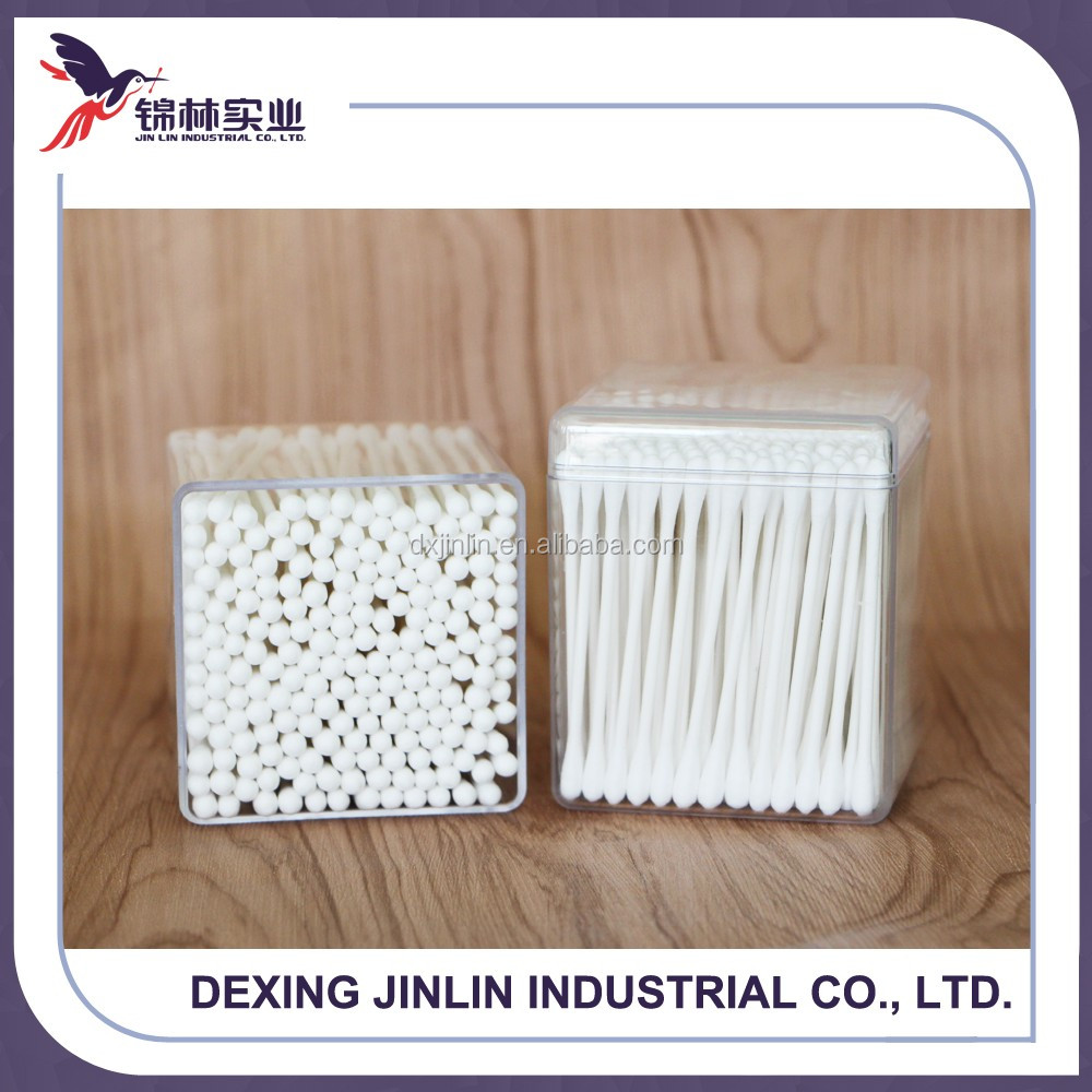 2016 whole sale rectangle box customized cotton swab
