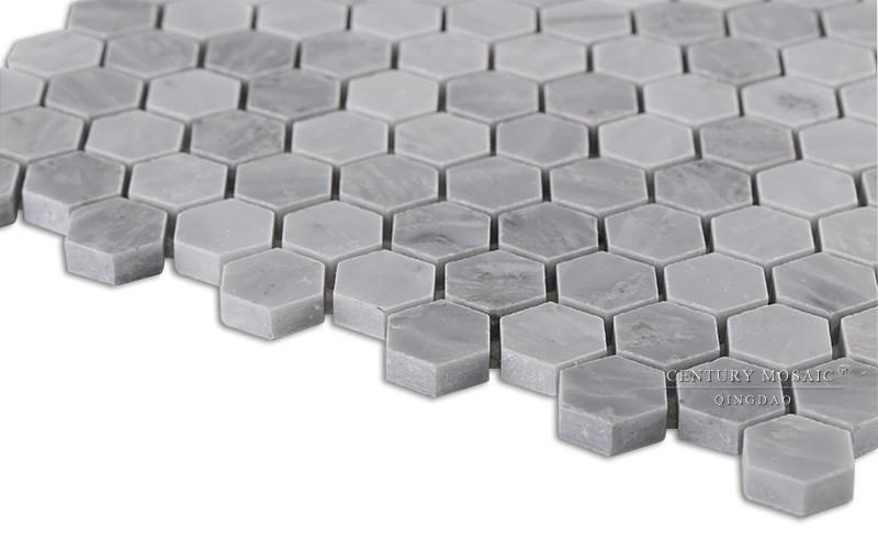 primera clase siglo barato cisne gris mosaico hexagonal pisos de baldosas