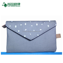 Wholesale Custom Cotton Multi-pocket Envelope Zipper Close Folding Purse