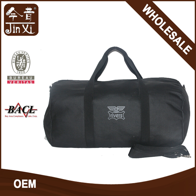 Yiwu factory custom logo canvas travel duffle bag